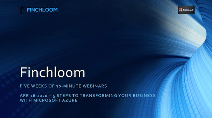 WEBINAR: 5 Steps to Transform Your Business with Microsoft Azure